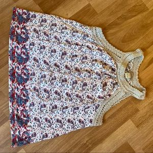 Lucky Brand: Tank with Crochet Detail